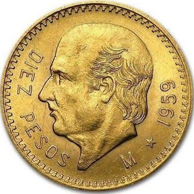 Picture of Gold Mexican 10 Peso