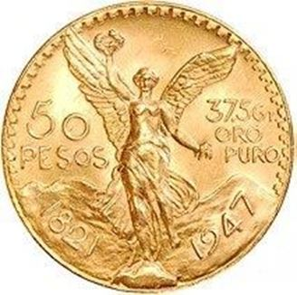 Picture of Gold Mexican 50 Peso