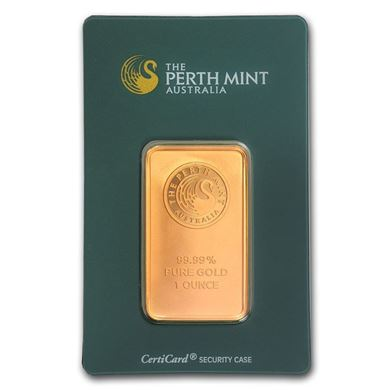 Picture of Gold Perth Mint Bar 1 oz