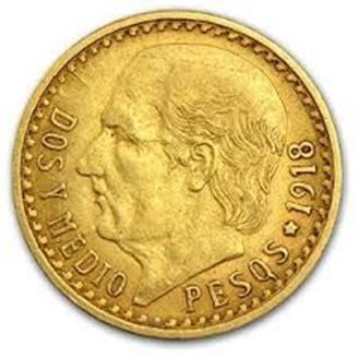 Picture of Gold Mexican 2 1/2 Peso