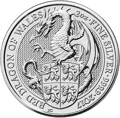 Picture of 2017 Silver 2 oz Red Dragon of Wales