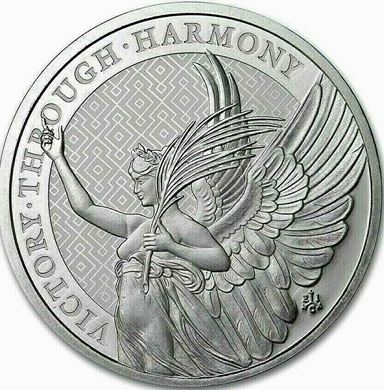"""Picture of 2021 10 oz Silver St. Helena """"Victory Through Harmony"""" Queen's Virtues Coin"""