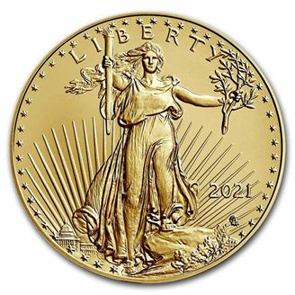 Picture of 2021 1 oz Type 2 Gold Eagle BU